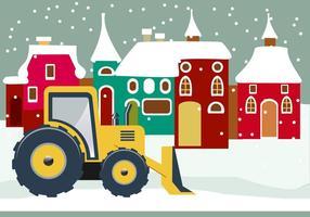 Illustratie van sneeuwploegvectoren vector