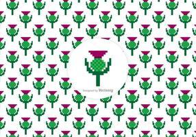Gratis Thistle Pixel Vector Patroon