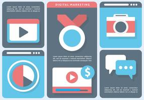 Gratis Flat Digital Marketing Vector Illustratie