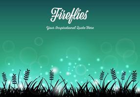 Gratis Fireflies Achtergrond Vector
