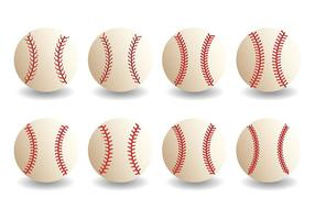 Gratis Baseball Lace Icons Vector