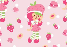 Strawberry Shortcake Patroon vector