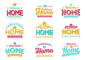 Gratis Kleurrijke Welkom Home Typografie Vector