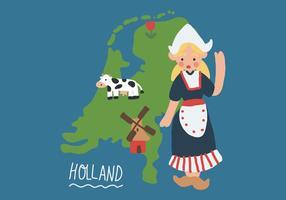 Leuk Meisje uit Nederland vector