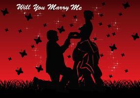 Zult u met me Kaart Vector trouwen
