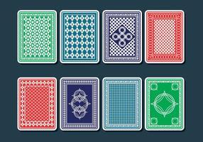 Speelkaart terug vectoren
