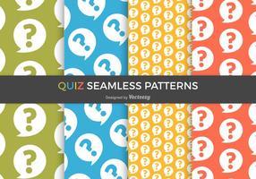 Gratis Quiz Vector Naadloze Patronen