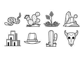 Gratis Wild West Icon Vector