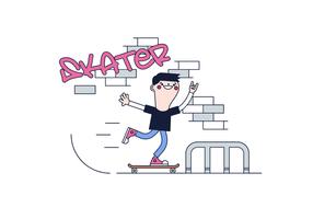 Gratis Skater Vector