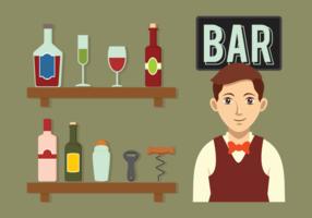 Barman Vector Pictogrammen
