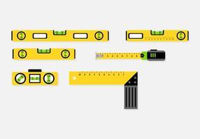 Tool level icon vector set