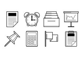 Gratis Office Stuff Icon Vector