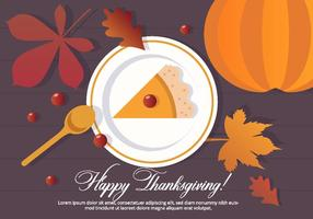 Thanksgiving vector dessert