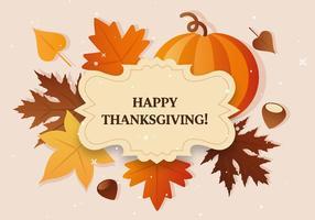 Vector Thanksgiving label