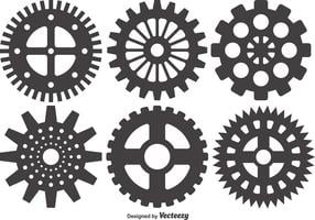 Cogs And Gears Icon Vector Illustratie Geïsoleerd