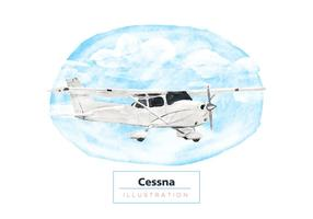 Gratis Cessna Waterverf Vector