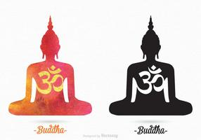 Gratis Vector Boeddha Silhouetten