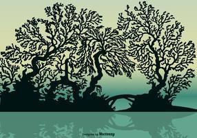 Gratis Vector Mangrove Silhouet