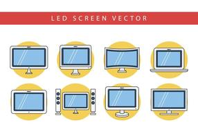 Gratis Flat LED Screen Vector