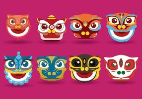 Gratis Lion Dance Vector