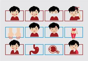 Ziek kind icoon vector