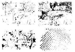 Set Van Textuur Vector