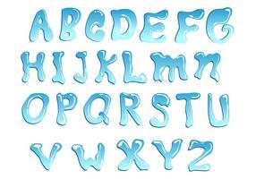 Blauwe water lettertype vector