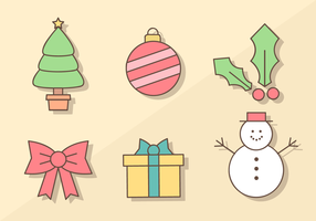 Gratis Vector Christmas Elements