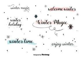 Gratis Winter Labels vector