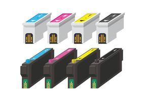 CMYK-vectoren van de inktcartridge vector