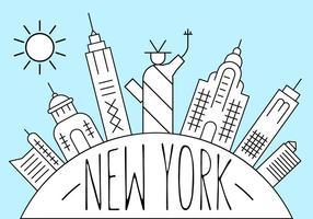 Gratis New York Illustratie