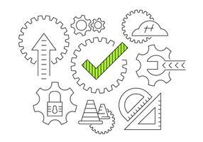 Vector pictogrammen voor werkuitrusting