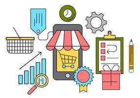 Gratis Online Winkelen Vectorillustratie vector
