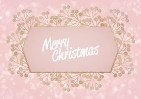 Vector Roze Glitter Kerstmis Achtergrond