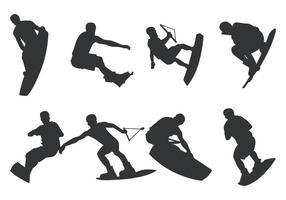 Wakeboarding silhouet vector