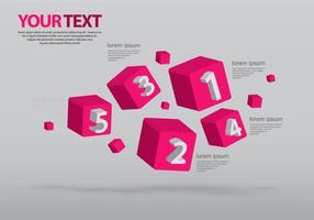 Combineer infografische sjablonen vector
