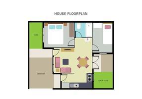 Huis Vloerplan vector