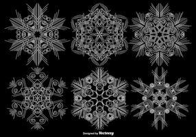 Vector Set Van Sier Sneeuwvlokken