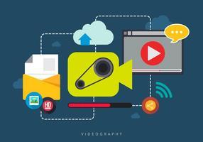 Combineer mobiele videografie vector