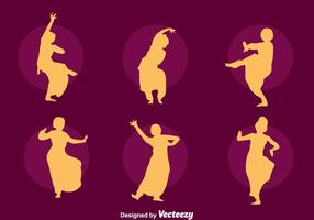 Bollywood dans silhouet vector set