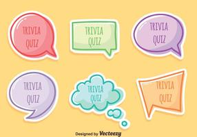 Trivia quiz vector set