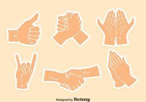 Arm gebaar sticker vector