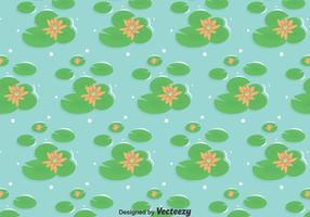 Moeras Met Lotus Bloemen Achtergrond vector