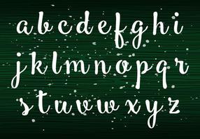 Handschrift kleine letters vector