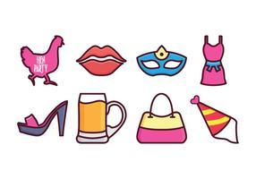 Gratis Hen Party Icon Set vector