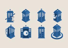 Tardis-pictogramvectoren