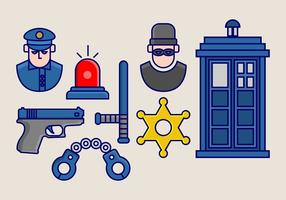Tardis vector icoon pack