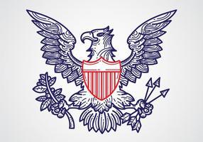 Gratis Flat Presidential Seal Vector Design