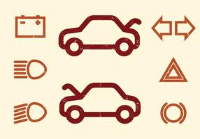 Auto Dashboard vector iconen