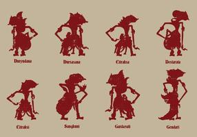 Javanese marionet cultuur vector